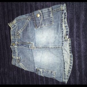 Old Navy Jean skirt 3T mid wash
